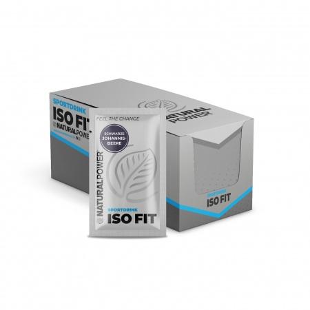 Sportdrink Iso Fit Schwarze Johannisbeere - Sachet-Box  (15x16g)
