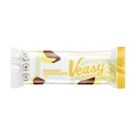 Veasy Crispy - Vegan Protein Bar 20x35g-Banana Chocolate